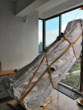 上海吊装红木电视柜上楼